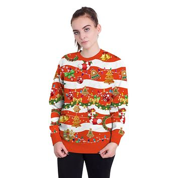 Christmas Gifts Print Scoop Women Party Sweatshirt