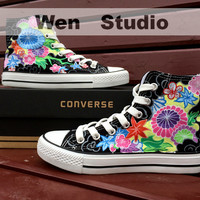 Vines Converse Flower Shoes Custom Hand Painted Shoes,Converse Shoes,Painted Shoes Custom Shoes Painted Custom Converse Canvas Shos Gifts