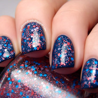 Dipstick  Full Size Custom Glitter Nail Polish by SpellboundNails