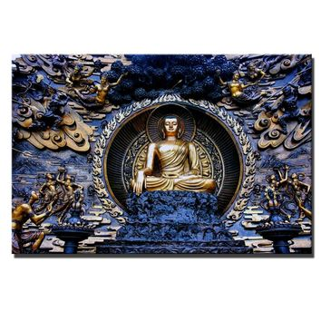 Classical Buddha Canvas Paintings Large Size Realist Buddhism Cuadros Pictures For Living Room Wall Art Posters And Prints