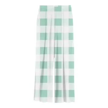 MINT GREEN GINGHAM Chiffon Slacks