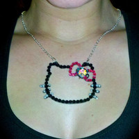Hello Kitty necklace by Sugar and Speisz on Etsy