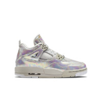 Air Jordan 4 Retro Pearl  Girls' Shoe, by Nike Size 8.5Y (White)