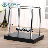 Large Newton Cradle Physics Pendulum Science Wave Desk Office Classic Toy