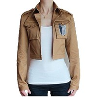 OrangeTag Attack on Titan Scouting Legion Cosplay Custom Jacket, Khaki