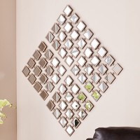 Southern Enterprises Ayanna 4-Piece Mirrored Grid Wall Art