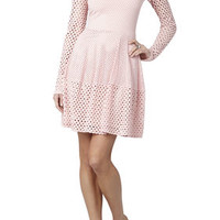 Kyla A-Line Long-Sleeve Dress - Pink