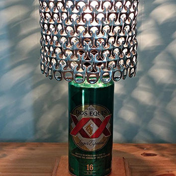 Dos Equis Beer Can Lamp with Pull Tab Lamp Shade