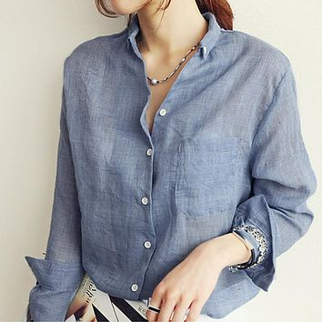 Womens Tops Fashion Shirt  Long Sleeve Blouse