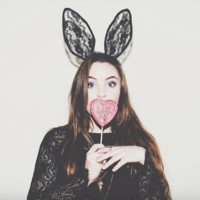 Lace Bunny Ears Knotted Headband - Black