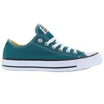 Converse All Star Chuck Taylor Seasonal Low Rebel Teal - Teal Canvas Low-Top Sneaker