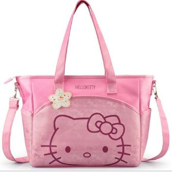 oxford hello kitty mummy bag Women Casual shopping bag Cartoon bag women tote picnic bag 2 colors