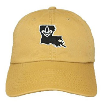 Louisiana Gameday Gold and Black Embroidered Hat by State Traditions