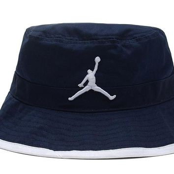Jordan Full Leather Bucket Hats Blue