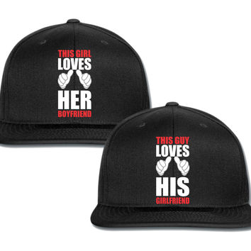 this girl loves her boyfriend couple matching snapback cap