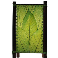 Small Fortune Leaf Table Lamp - Green