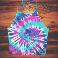 Tie Dye Halter Top - Handmade - Michigan Made - Hippie - Festival Fashion -