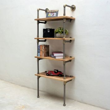 Sacramento Industrial Chic Etagere Bookcase Display