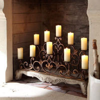Orante Fireplace Candelabra - Horchow