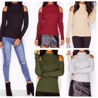Strapless Knit Winter Stylish Tops [14117208084]