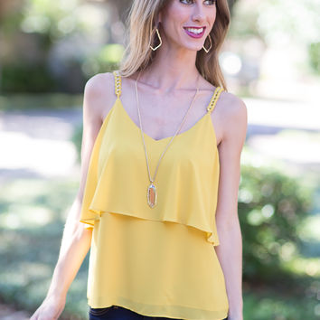 A Matter of Time Top  (Mustard)