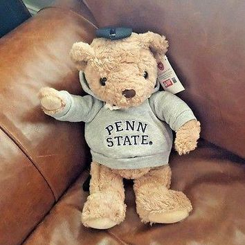 "PENN STATE NITTANY LIONS LARGE PLUSH STUFFED TEDDY BEAR BACKPACK 16"" RARE"