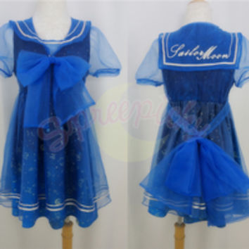 Dreamy Sailor Moon Organza Sailor Collar OP Dress Free Ship SP141133 from SpreePicky
