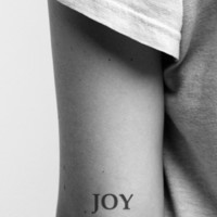 2pcs JOY simple word text tattoo - InknArt Temporary Tattoo -  set wrist quote finger tattoo sticker fake tattoo wedding tattoo small tattoo