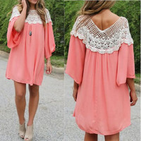 Coral Memory tunic
