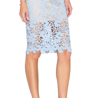 Floral Lace Skirt in Blue