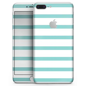 Teal Horizonal Stripes - Skin-kit for the iPhone 8 or 8 Plus