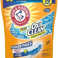 Arm & Hammer Laundry Detergent Plus OxiClean Power Paks, Fresh Scent, 70 Count