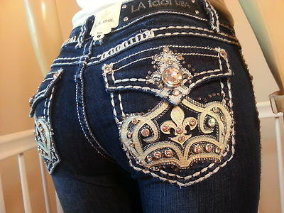 Miss La Idol Jeans Crown De Lis Bootcut From