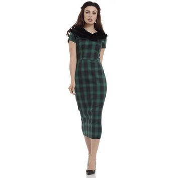 Rachel Green Plaid Pencil Dress