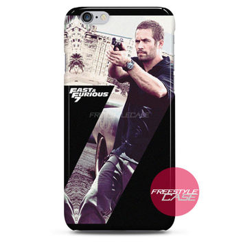 Paul Walker Fast and Furious 7 Action iPhone Case 3, 4, 5, 6 Cover