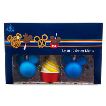 Disney Parks Food Icon String Lights Set New with Box