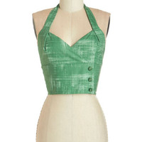 Halter Cropped Grass is Greenest Top