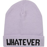 River Island Light purple whatever beanie hat