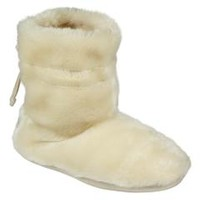 Women's Eden Plush Bootie Slipper - Ivory - Kmart