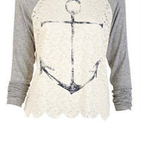 Anchor Lace Raglan
