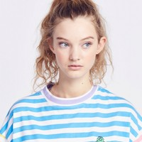 Lazy Oaf Frog Stripe T-shirt - Everything - Categories - Womens