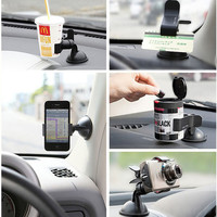 Premium Multifunction Universal 360 Rotating Car Windshield Duckbill Clip Mount Holder Stand Phone GPS Holder + Free Shipping