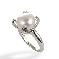 Fresh by Honora Pearl Ring, Sterling Silver Cultured Freshwater Pearl - Rings - Jewelry & Watches - Macy's