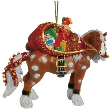 ONETOW Clydesdale Santa Sack Christmas Ornament