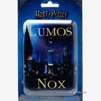 Licensed cool Harry Potter Hogwarts Lumos Nox Single Light Switch Plate Cover New In Package