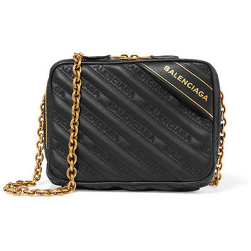 Balenciaga - Blanket Reporter XS printed quilted leather shoulder bag