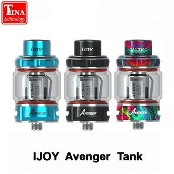 100% Original IJOY Avenger Sub Ohm Tank for Ijoy Box Mod electronic cigarette bottom airflow Atomizer with Mesh pre-made coil