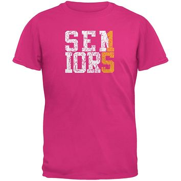Graduation Seniors 2015 Gold Pink Adult T-Shirt