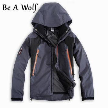 Be A Wolf Waterproof Hunting Coats Soft Shell Tactical Jacket Outdoor Sports Army Military Training Windproof Coat Jackets Men