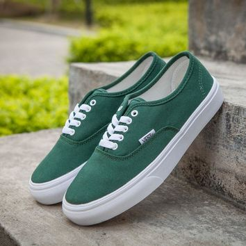 Vans Authentic Green Sneakers Casual Shoes